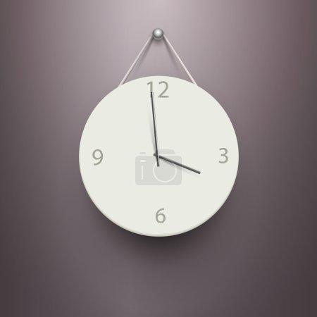 Illustration for Vector mechanical clock vector illustration - Royalty Free Image