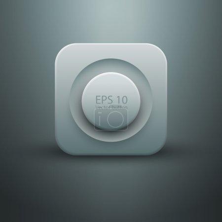 White web button vector illustration