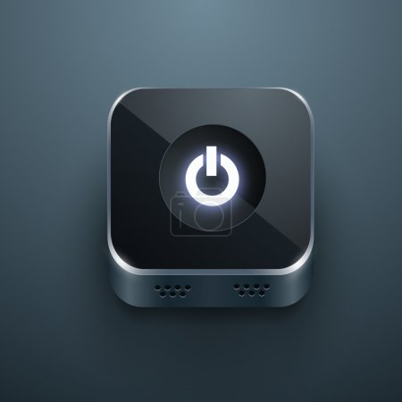 Illustration for Black power button vector - Royalty Free Image