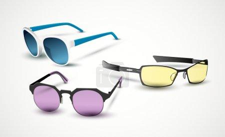 Sunglasses signs  vector illustration