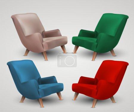 armchair icons  vector illustration
