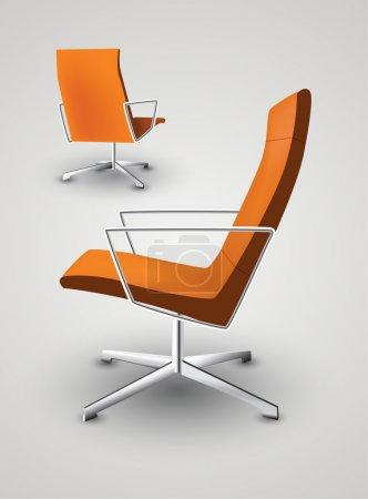 Illustration pour Illustration vectorielle de fauteuil de bureau - image libre de droit