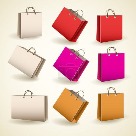 paper bags. vector illustration