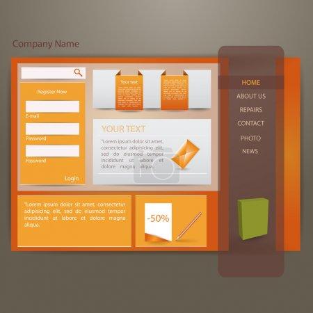 orange website creative template