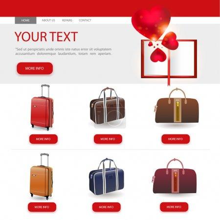 Illustration pour Illustration de modèle de conception de site Web - image libre de droit