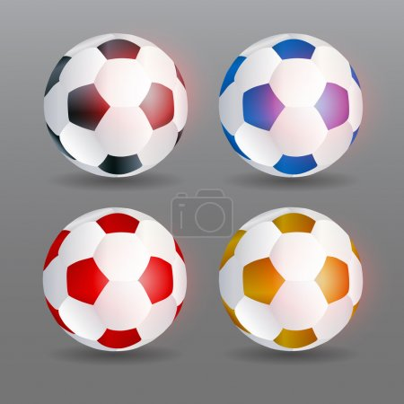 Vector soccer balls vector illustration