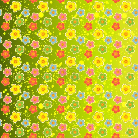 Photo for Vector background with flowers. - Royalty Free Image