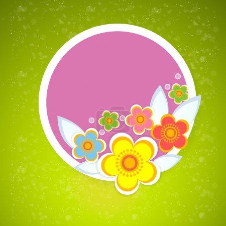 Conception vectorielle de fond floral