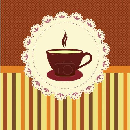 Illustration pour Un fond de thé. Illustration vectorielle - image libre de droit