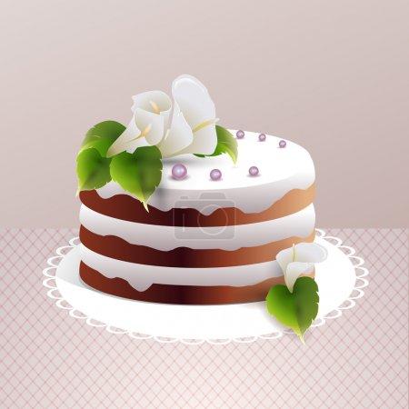 Illustration pour Illustration vectorielle gâteau sucré - image libre de droit