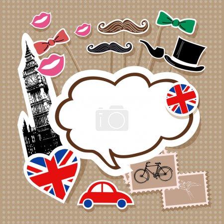 London doodles vector  illustration