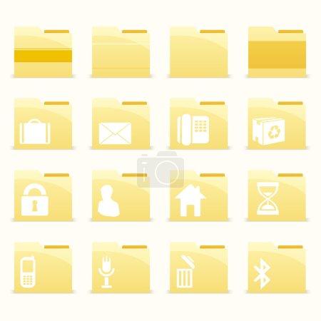 Foto de Conjunto de iconos de carpeta vectorial - Imagen libre de derechos