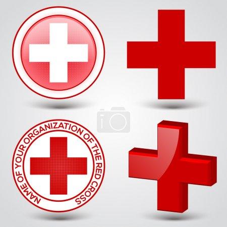Illustration pour Premiers soins signe de bouton médical - image libre de droit