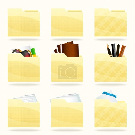 Photo for Vector folder icons set - Royalty Free Image