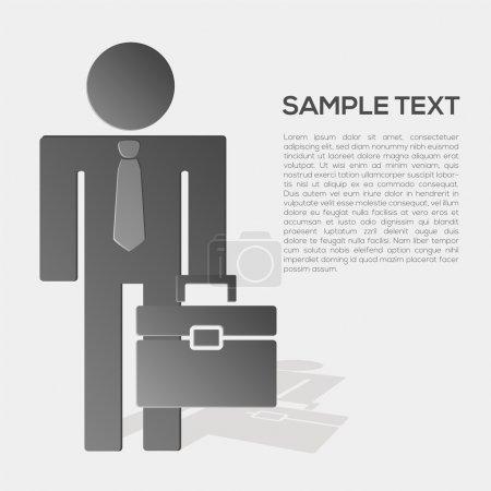 Illustration pour Vecteur homme d'affaires en costume formel - image libre de droit