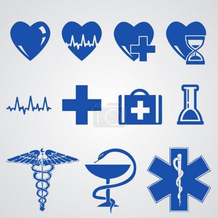 Medical button set vector  illustration