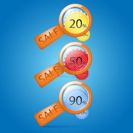 Illustration pour Icônes de vente. illustration vectorielle - image libre de droit