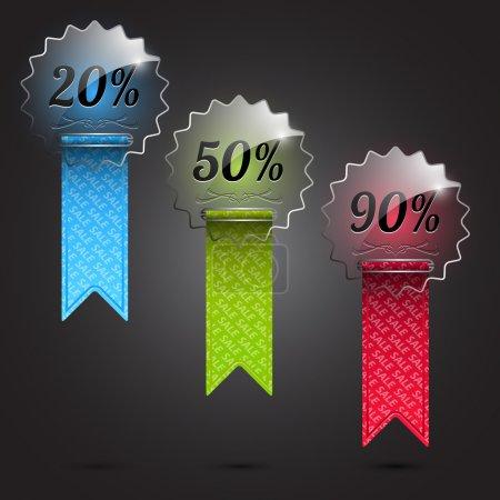 Illustration pour Icônes de vente. Illustration vectorielle vectorielle - image libre de droit