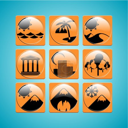 Icônes de voyage illustration vectorielle