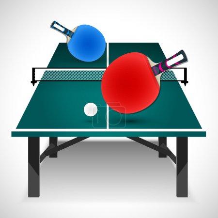 Table tennis concept. Vector Illustration
