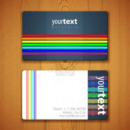 Illustration for Business Card Template vector  illustration - Royalty Free Image