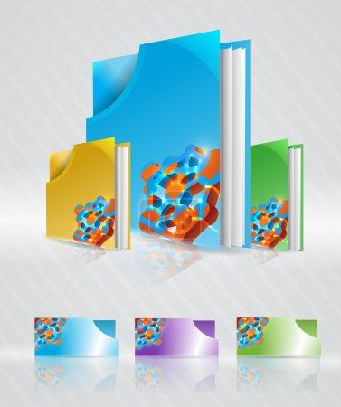 Illustration pour Ensemble vectoriel de dossiers abstraits . - image libre de droit