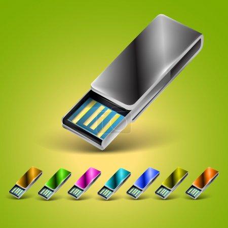 Illustration for USB flash drive. vector  illustration - Royalty Free Image