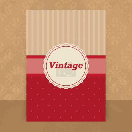 Vector vintage background. vector  illustration