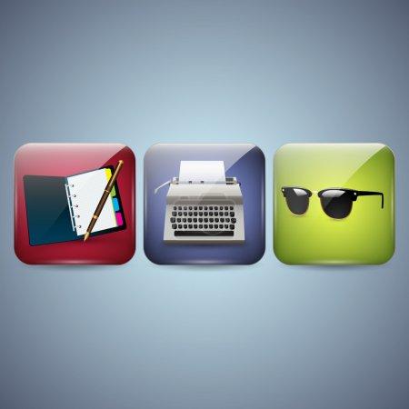 Illustration pour Icônes d'affaires vectorielles. illustration vectorielle - image libre de droit