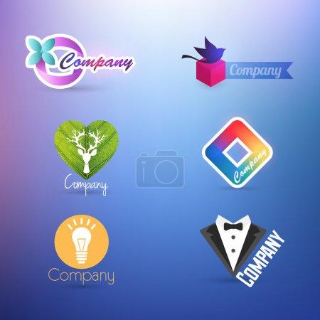 Illustration for Illustration of set of symbol for logo designing - Royalty Free Image