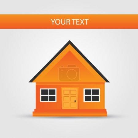Photo pour Fond vectoriel avec icône de la maison - image libre de droit