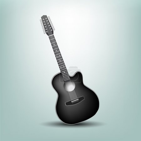 Vector illustration of a acoustic guitar.