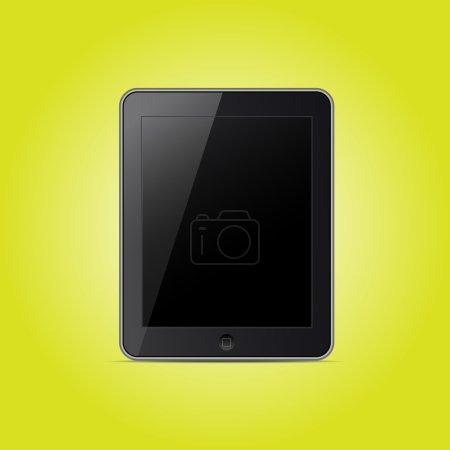 Tablet pc computer. vector  illustration
