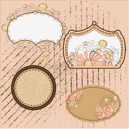 Illustration pour Cadre vintage illustration vectorielle - image libre de droit