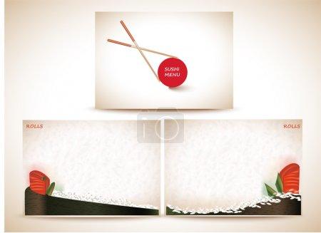 Illustration pour Illustration vectorielle du menu Sushi - image libre de droit