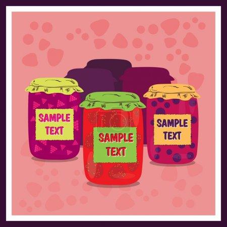 Illustration for Jars of jam vector illustration - Royalty Free Image