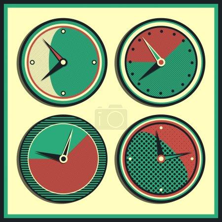Illustration for Vector vintage clock vector illustration - Royalty Free Image
