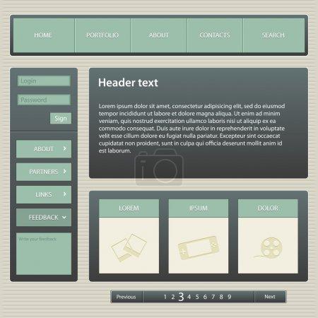 Illustration pour Modèle de conception de site Web, vecteur . - image libre de droit