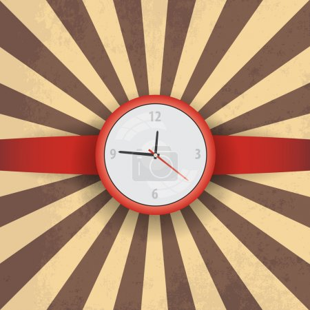 Illustration for Vector illustration red wristwatch - Royalty Free Image