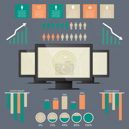 Business infographic elements, vector illustration