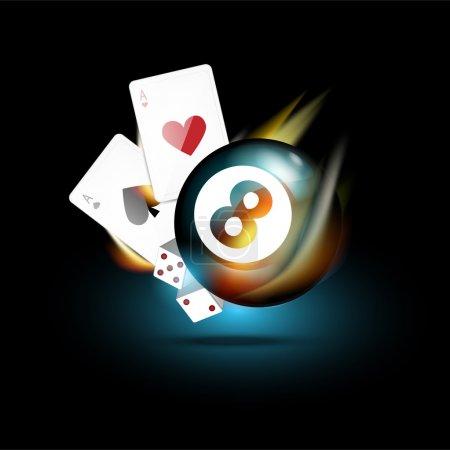 Vector casino icon, vector illustration