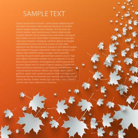 Photo pour L'automne volant laisse de l'espace pour le texte - image libre de droit