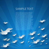 Blue abstract vector background with planes