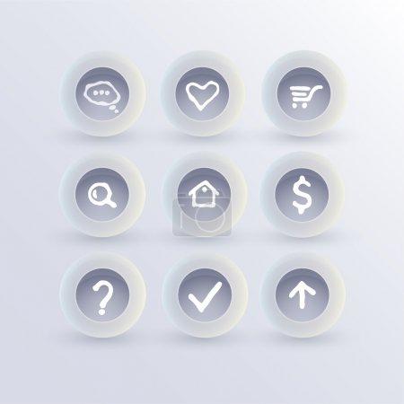 Illustration for Set of communication icons - Royalty Free Image