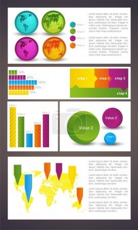 Illustration pour Éléments d'infographie métier, illustration vectorielle - image libre de droit