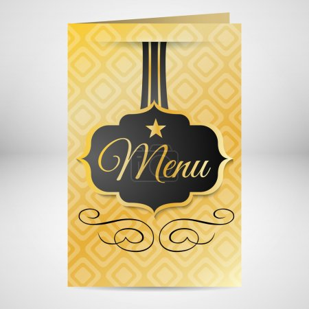 Restaurant menu design card