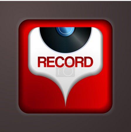 Vector black vinyl record