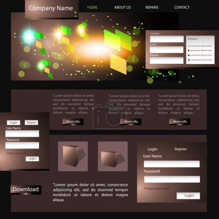 Illustration for Web site design template, vector. - Royalty Free Image