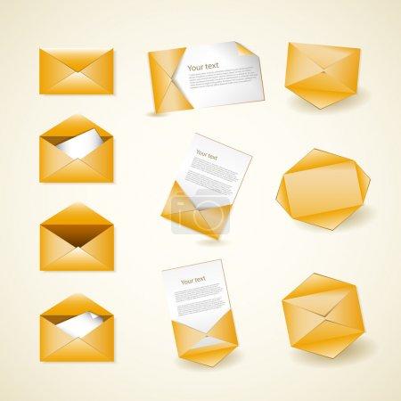 Illustration pour Icônes vectorielles d'enveloppe, illustration vectorielle - image libre de droit