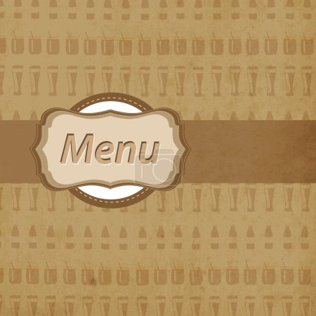 Restaurant menu design card